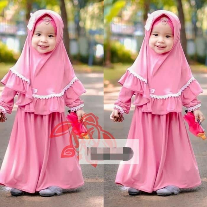 Baju Gamis syari anak selma renda/hijab anak perempuan