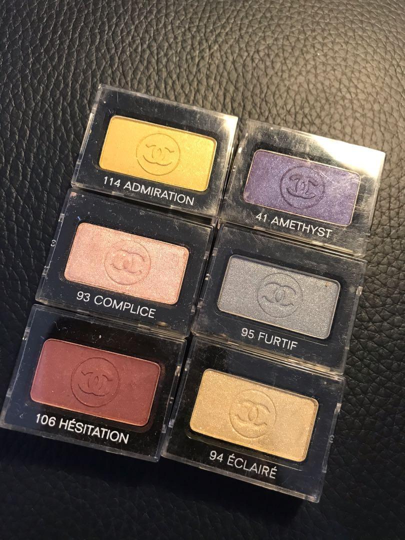 Chanel eyeshadow lots of 6 shade individual packaging!!