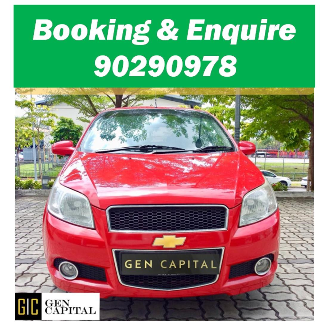 Chevrolet Aveo 1.4A Sedan - Just down $500 and drive off! Whatsapp @90290978 NOW!!!