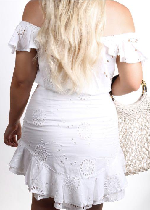 Fayt The Label - Fenton White Skirt - Size M - RRP $50