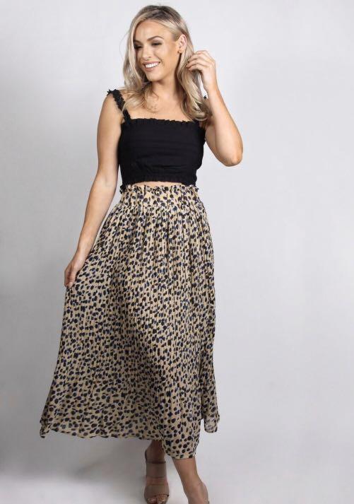 Fayt The Label - Jacinto Leopard Skirt - Size Medium - RRP $60