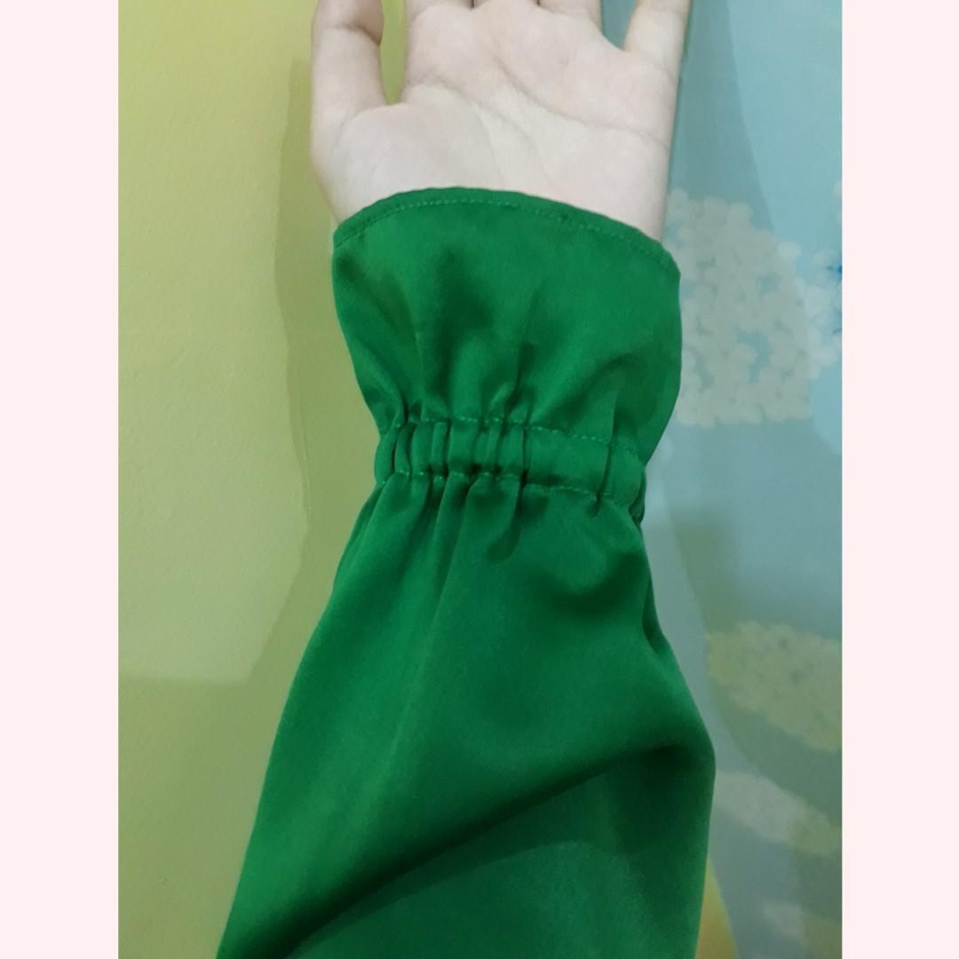Gamis wollycrepe hijau