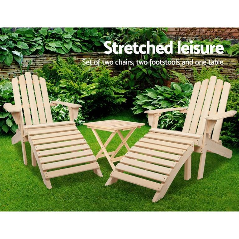 Gardeon Outdoor Chairs Table Set Sun Lounge Patio Furniture Beach Chair Lounger
