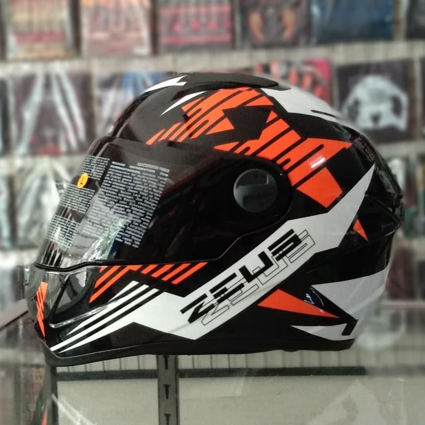 Helm Fullface Zeus ZS 811 BLK/AL28 ORG