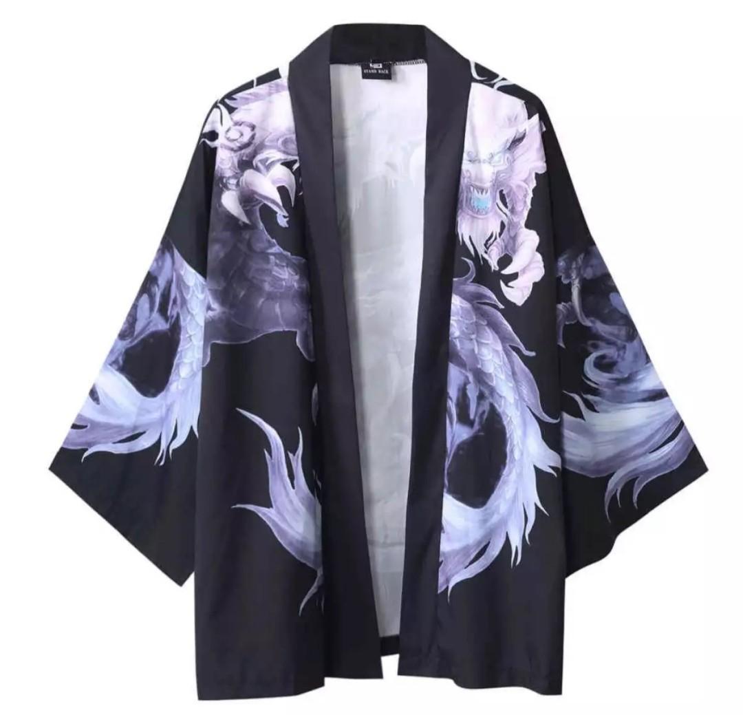Japanese Anime Kimono Beautiful dragon Galaxy Unisex