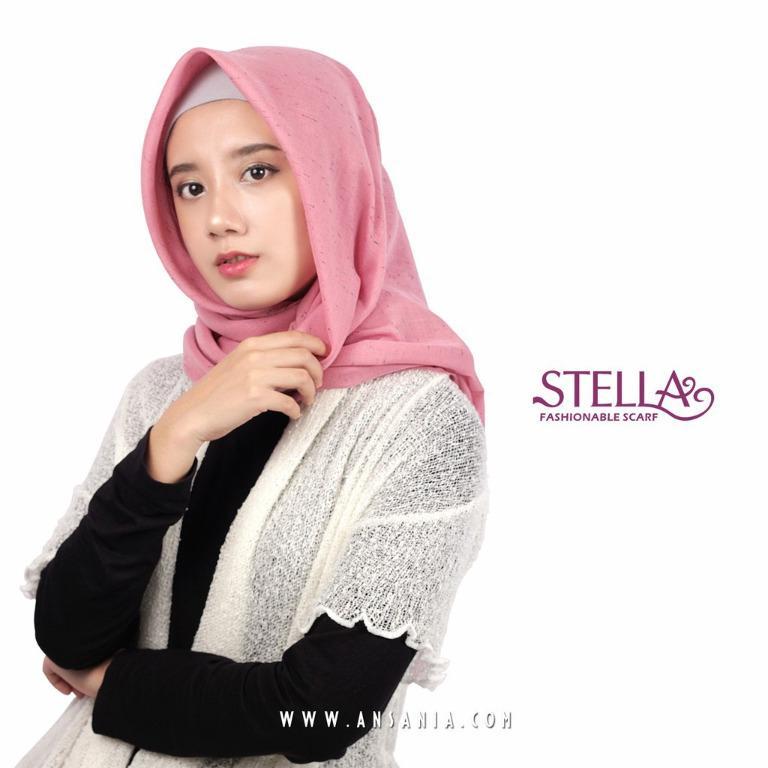 Jilbab / Hijab ANSANIA SAUDIA Rawis Segiempat / Square / Katun Premium STELLA