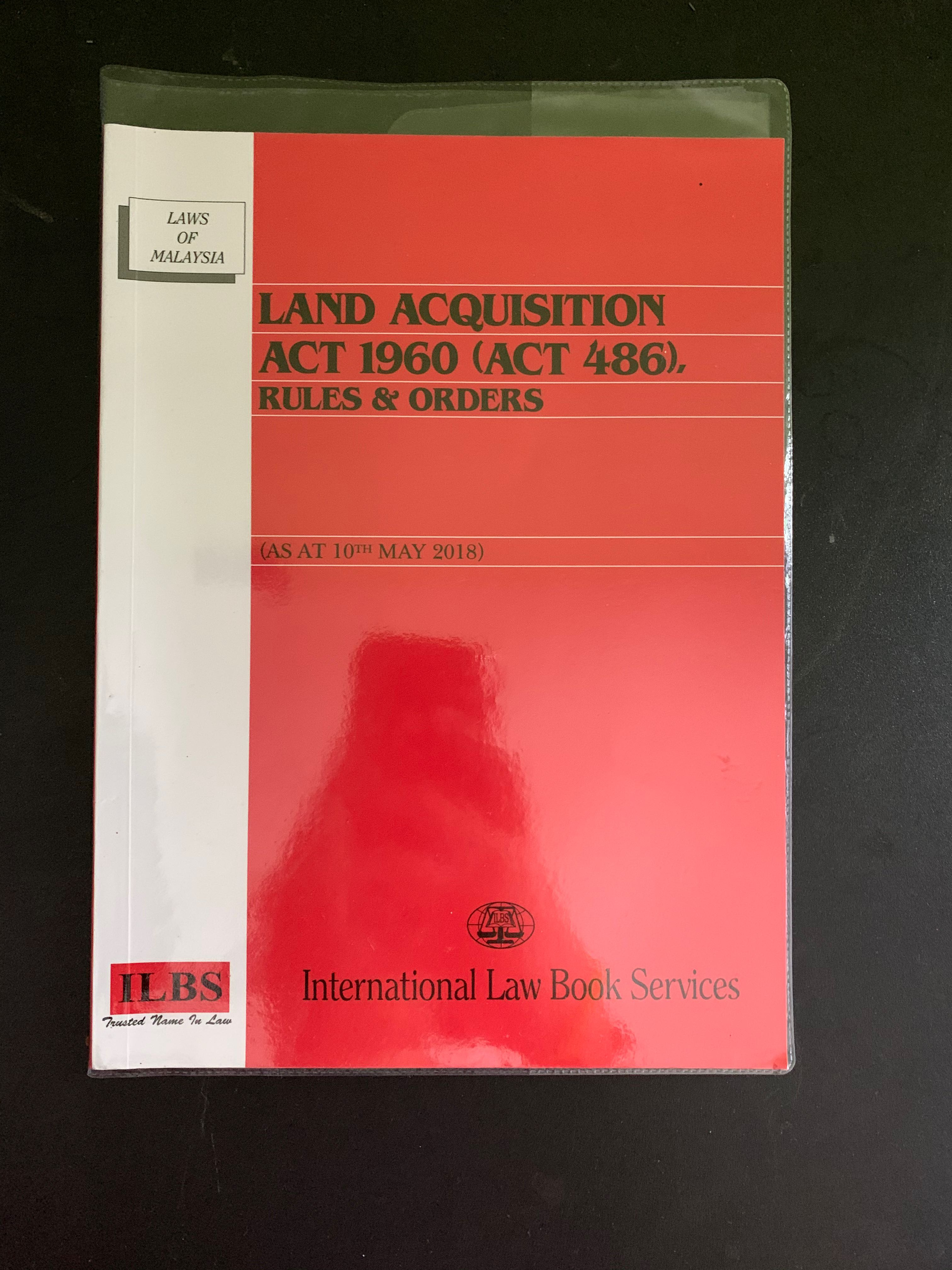 Land Acquisition Act Textbooks On Carousell