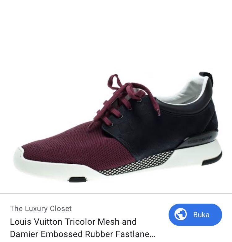 LV LOUIS VUITTON fastlane sneakers authentic