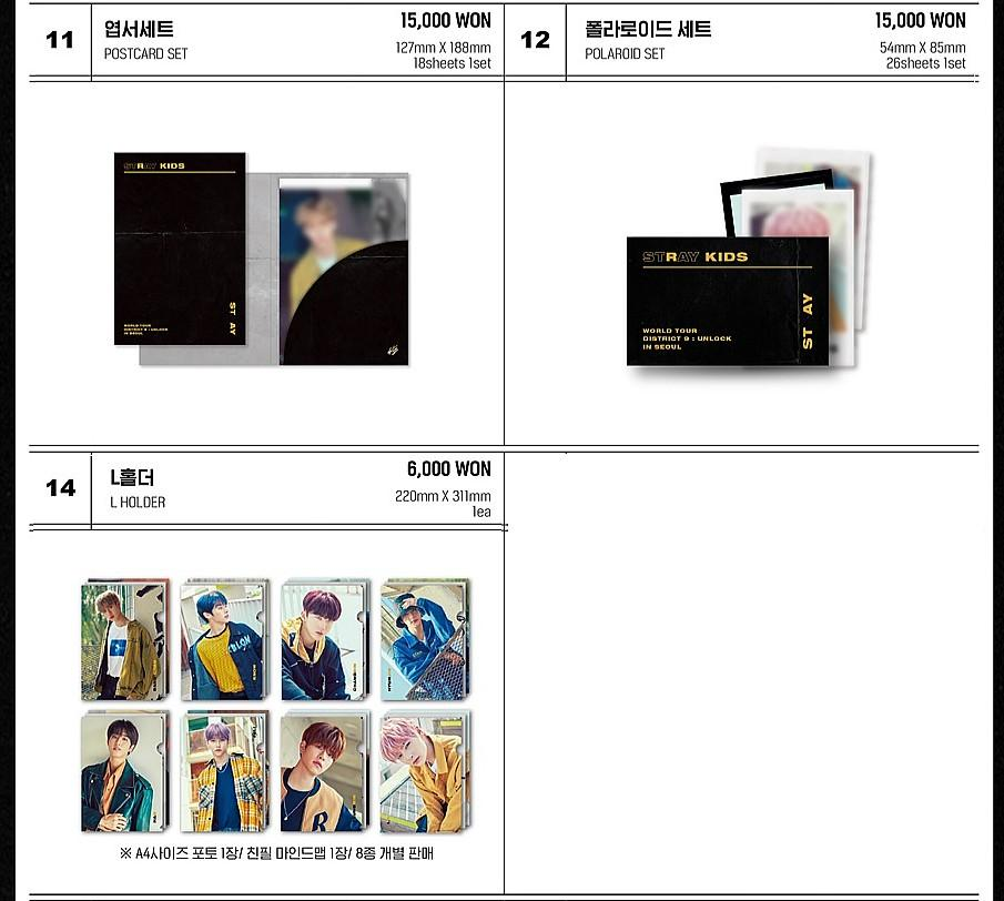 Stray Kids World Tour 'District 9 : Unlock' in Seoul Official Goods (❌No Polaroid)