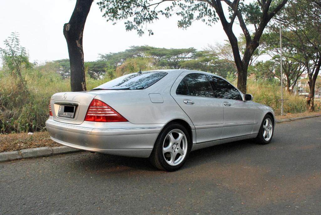 Mercedes Benz Mercy AT 2.8cc S280 W220 SWB Full Option 2002 Warna Silver Metalik