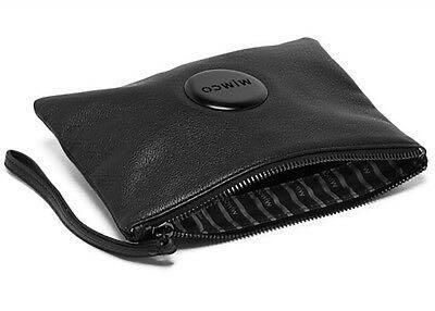 Mimco Lovely Black Medium Leather Pouch Wallet Clutch
