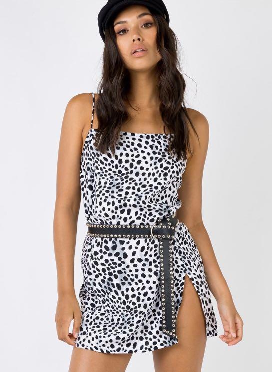 Motel Rocks Datista Slip Dress - Size 10 - RRP $60
