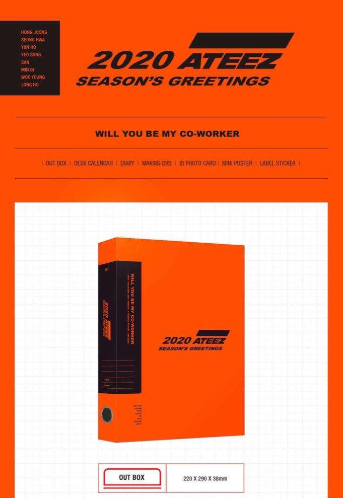 [MY G.O 🇲🇾] ATEEZ - 2020 Season's Greetings (MMT Ver/Regular Ver) FULL SET