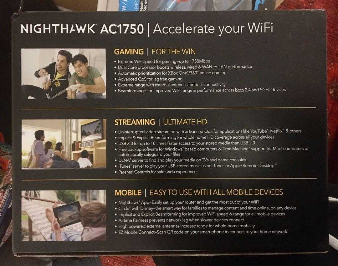 NEW Netgear Nighthawk Ac1750 R6700 Wifi Extender/ Router - Gaming & Home