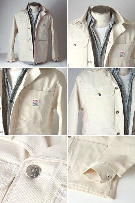🔥SALE🔥 🇺🇸 Pointer brand white chore coat jacket