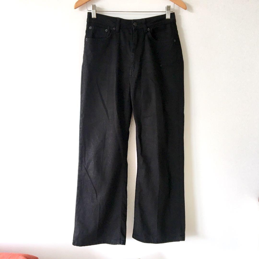 Scanlan Theodore Black Wide Leg High Waisted Jeans