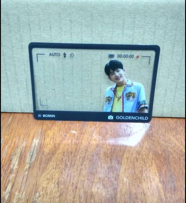 (Urgent Sell)Official Golden Child Transperants Pc-Golcha Album(Bomin ver)