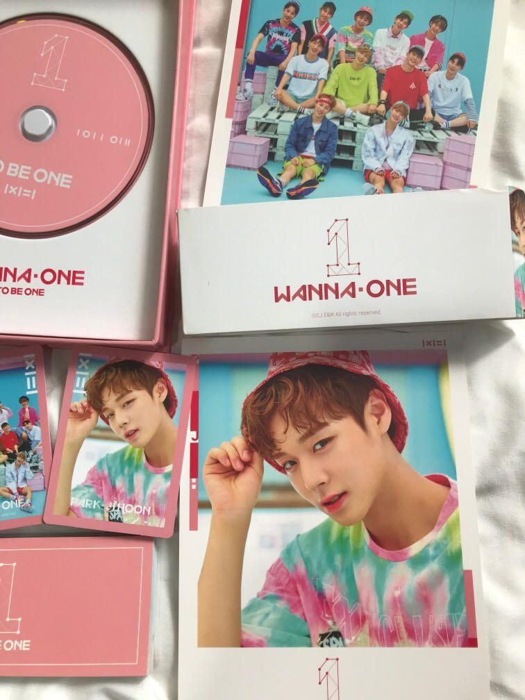 WANNA ONE TO BE ONE ALBUM PRELOVED PINK VER [JIHOON FULL SET]