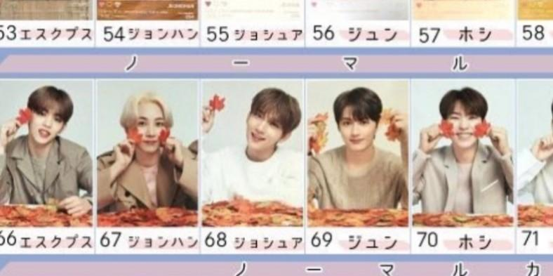 [WTB] Seventeen JPN OTY Cards (Maple leaf series   no.66-78)