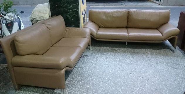 【健利傢俱行】2+3沙發組 真皮 狀況良好 二手雙人沙發 二手三人沙發 真皮沙發