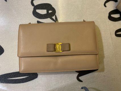 Ferragamo  beige sling bag