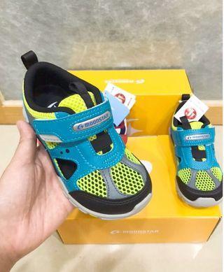 「撿便宜」日本MoonStar月星 透氣機能童鞋 湖水綠(17號)三重自取