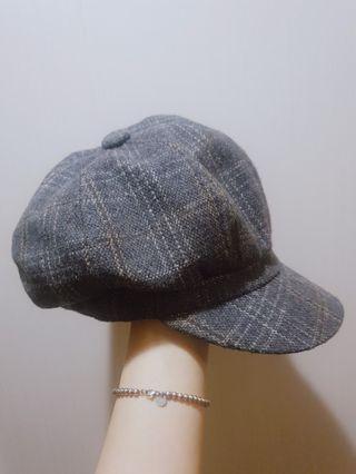 深灰質感帽子