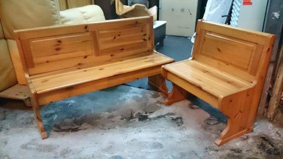 【健利傢俱行】木椅組 二手木沙發 中古木沙發 木沙發