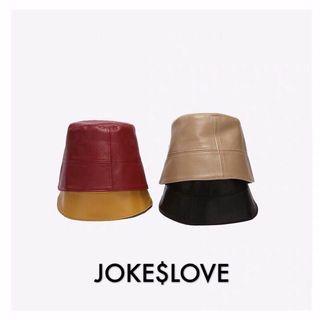 🔥皮質盆帽🔥漁夫帽 水桶帽 素色帽子