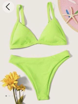 Neon green bikini size L