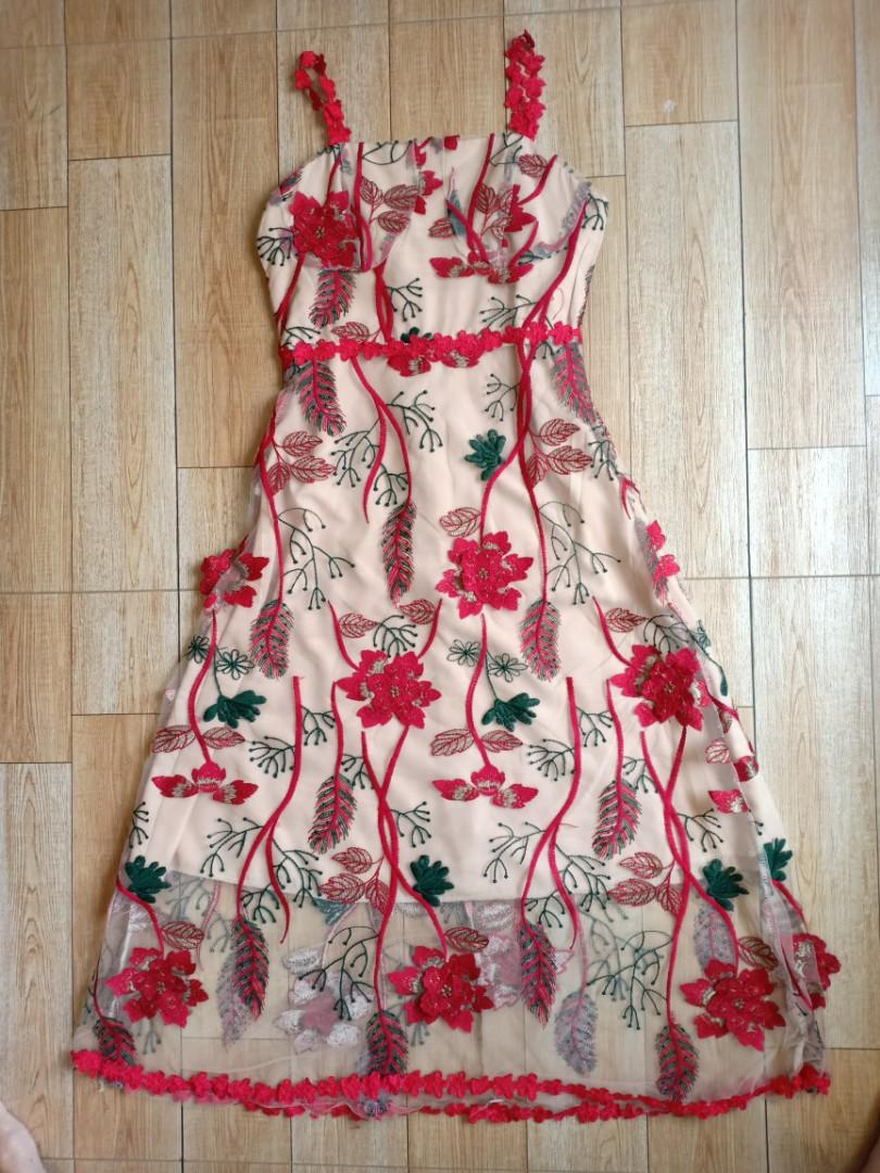 #1111special Flower dress Red