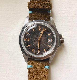 WMT Watch- Royal Marine 1950 軍錶 (Aged ver) wmt絕版樣式+mn軍錶帶 手錶
