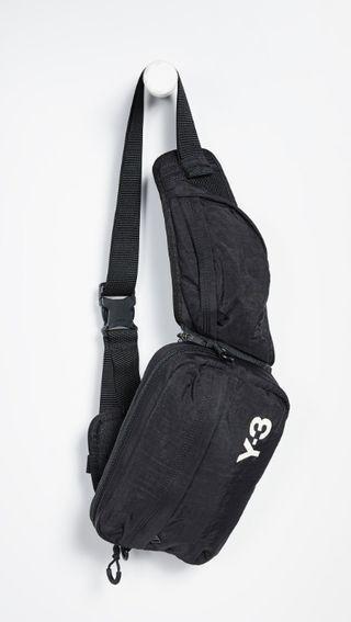 不敗時尚經典 ! Y3 精品頂級多功能、可組合拆開側背包! 設計師限量版!