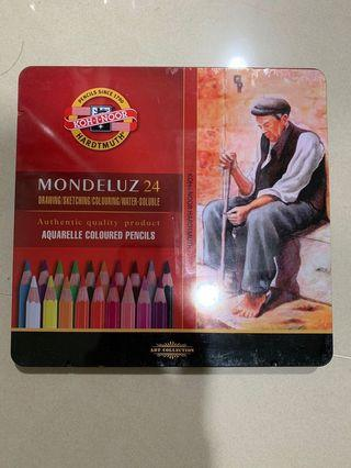 Koh-I-noor 水溶性色鉛筆鐵盒裝-24色