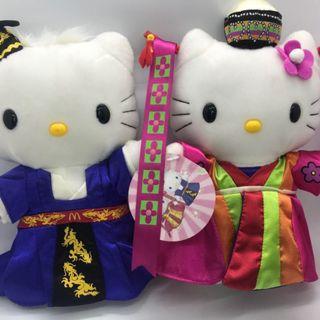 1999 McDonald/'s Millenium Wedding space Hello Kitty plush couple rare limited