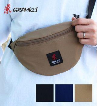 日本正品代購GRAMICCI 腰包小包側肩包肩背包側背包小袋輕便包黑色卡其色迷彩土黃色GRB-0034