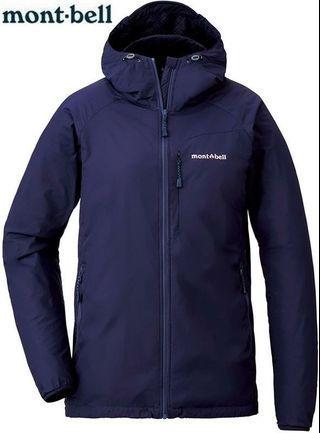 Mont-bell 連帽登山健行機能外套 女款 深夜藍