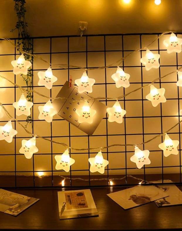 聖誕系列 10個燈泡可愛星星造型串燈1.5米