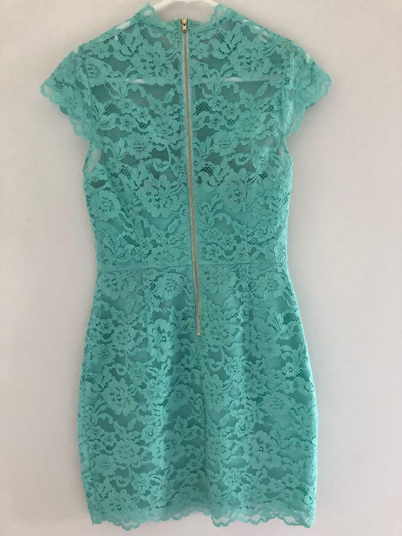 Allied Lace Woven Dress - Mint Splash/ Forever New/ Size S