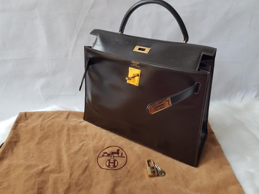 SALE! Authentic Hermes chocolate brown kelly 32 bag