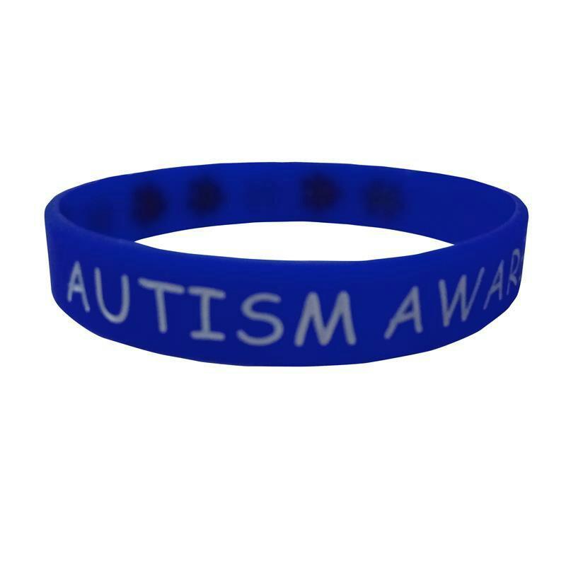 Autism Bulk Items Blue Autism Awareness Bracelets Autism Puzzle Piece Rubber Silicone Bracelets Wristband