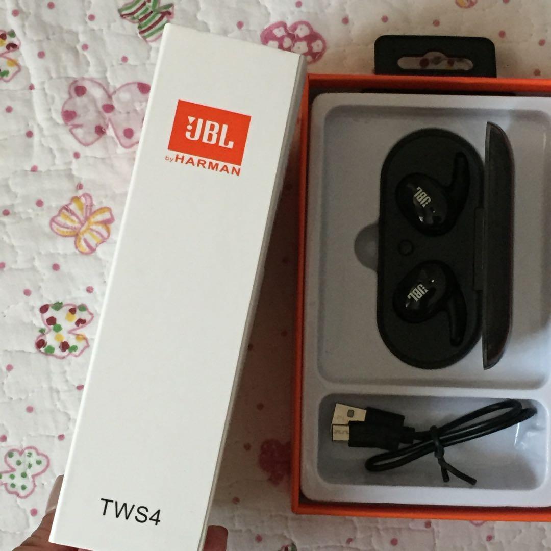 BLUETOOTH HEADPHONES WIRELESS JBL TWS4
