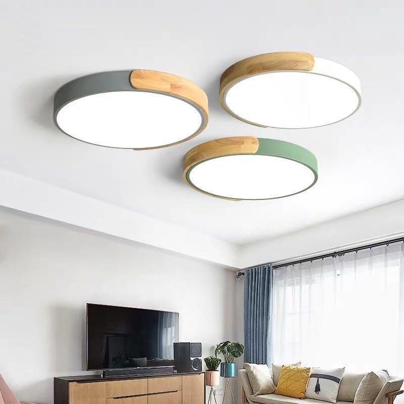 Curval Wood Led Ceiling Light