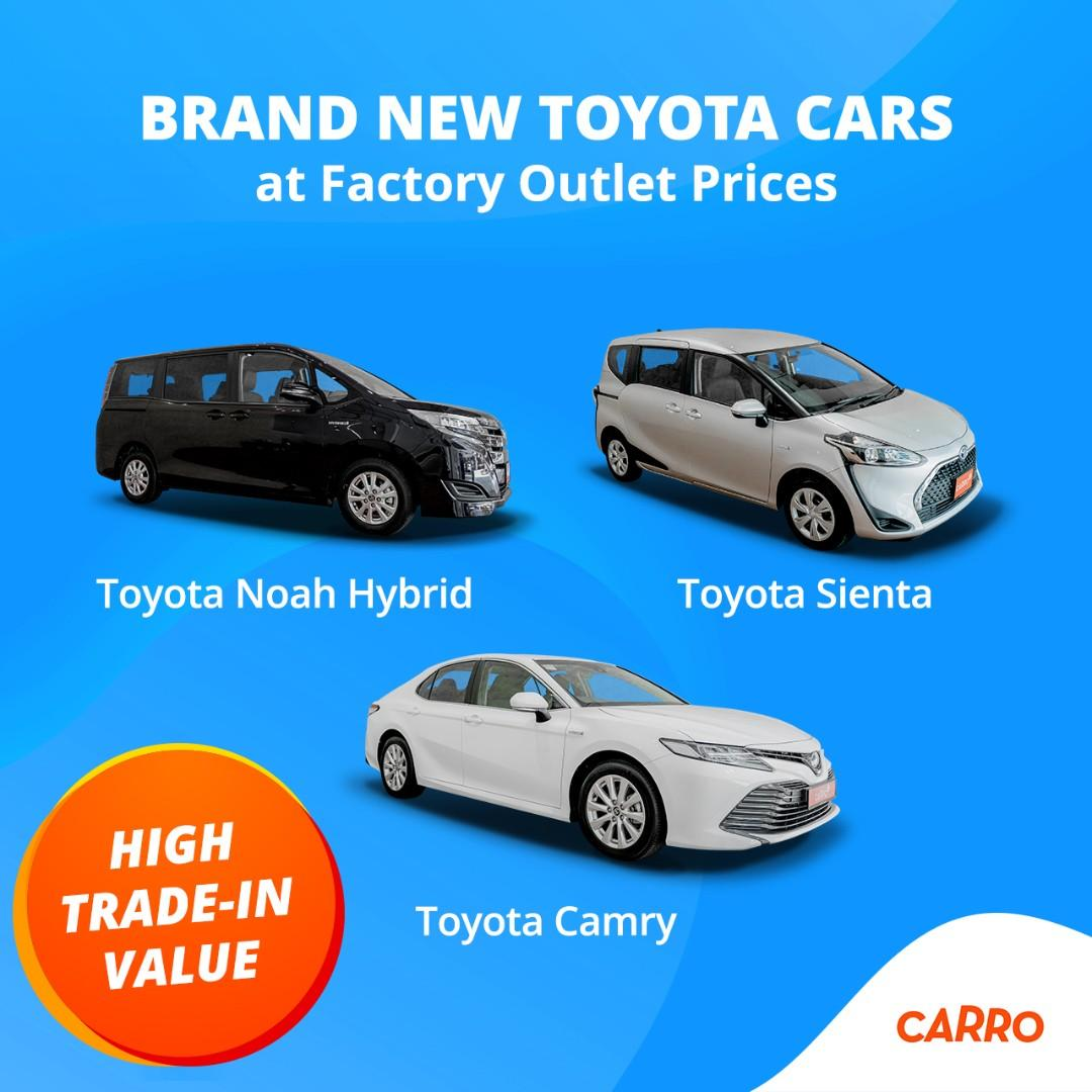 Factory Outlet Prices for a Brand New Toyota Vehicle