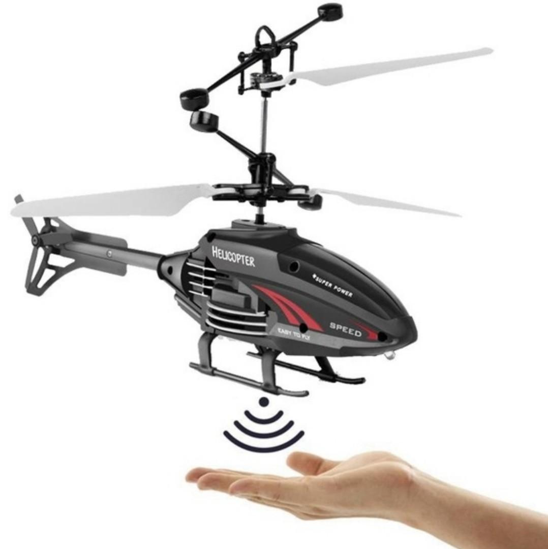 Flying Helicopter USB Rechargeable Induction Hover Helicopter With Remote