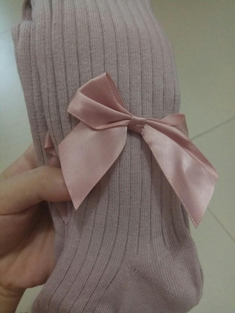 Girls Pantyhose Bow knot Knit Leggings Pants Kids Tights Stockings Baby Pantyhose