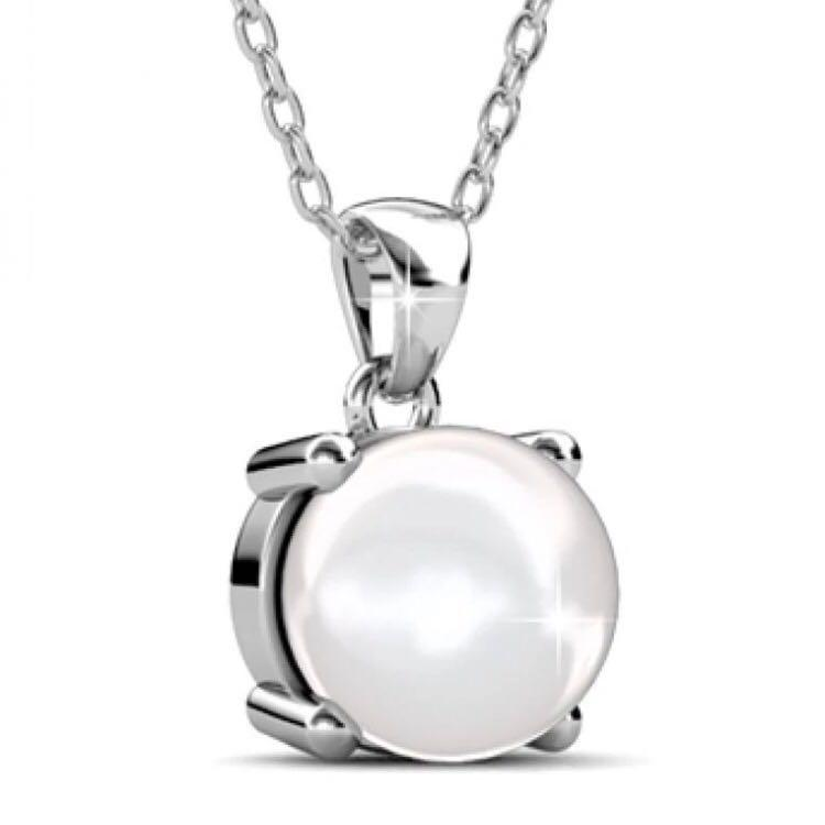 😍Her Jewellery😍Sweet Pearl Pendant embellished with Crystals from Swarovski
