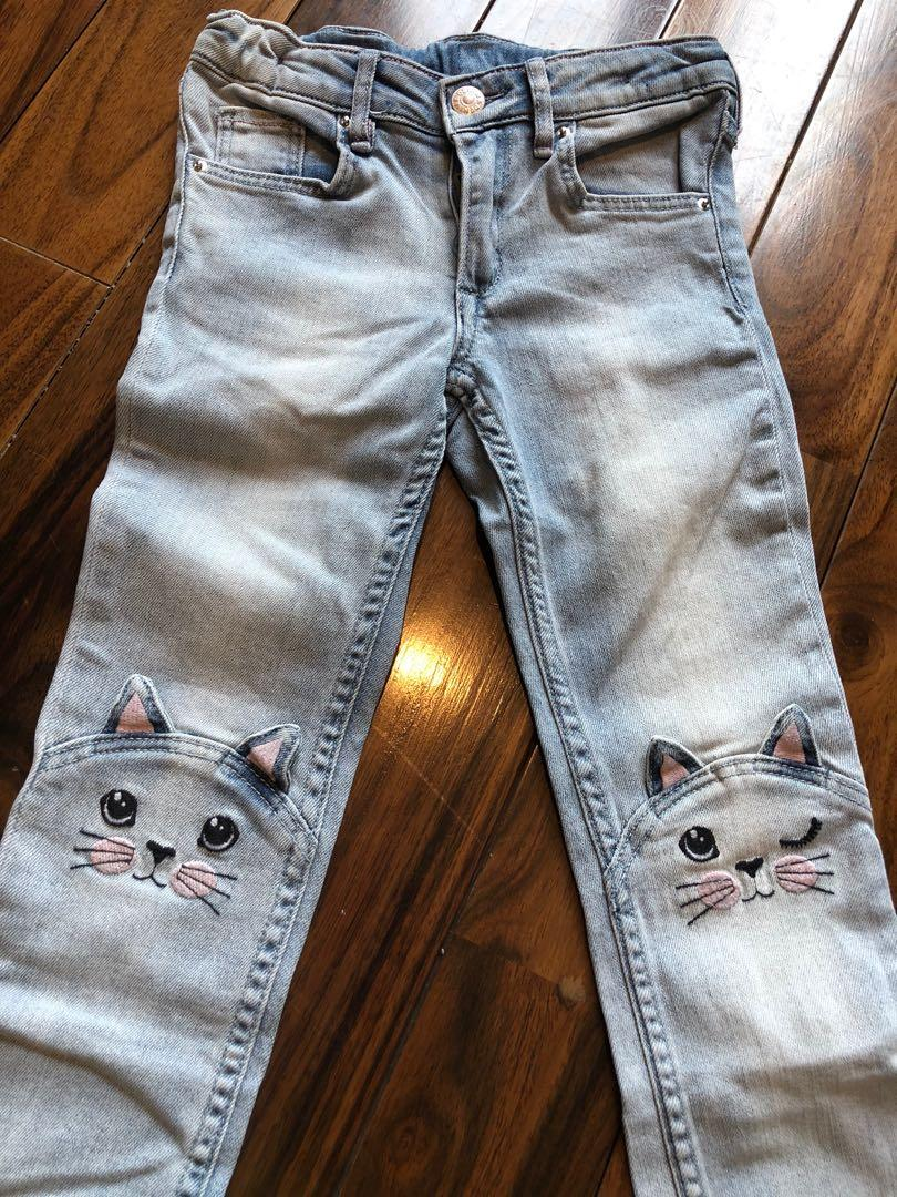H&m kitty jeans 5-6yrs
