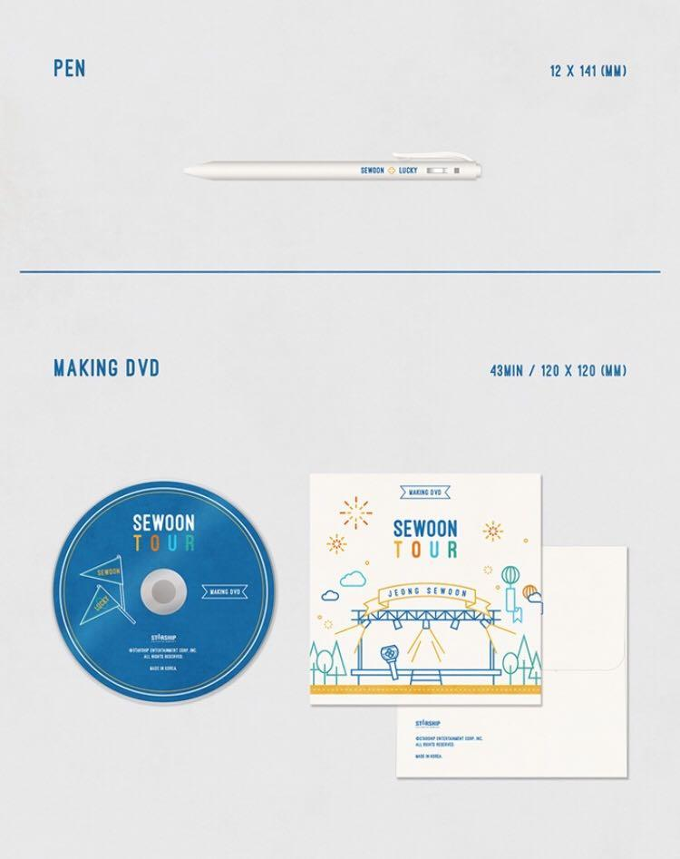 JEONG SEWOON 2020 Season Greeting-SeWoon Tour  ✔️Second payment needed pls read in the details