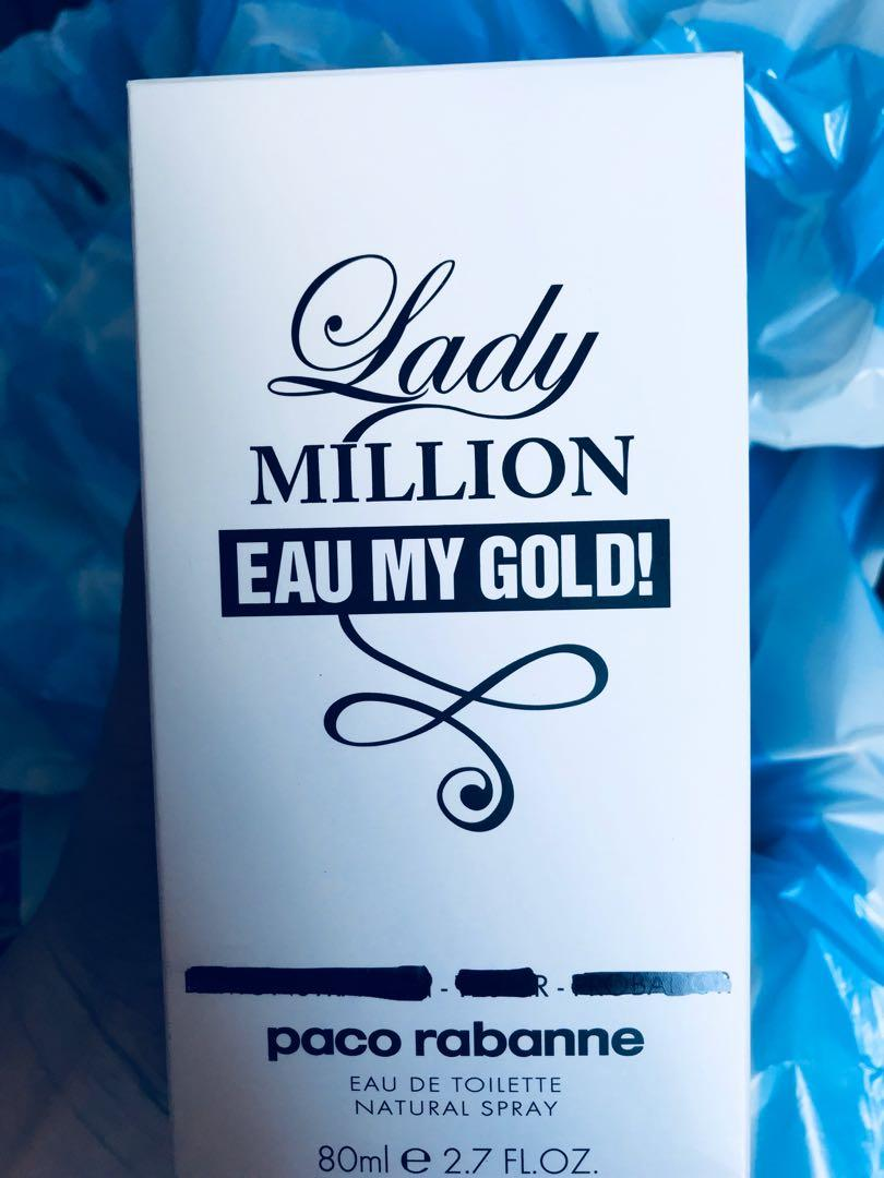 Lady million eau my gold genuine 80ml tester Paco rabbane